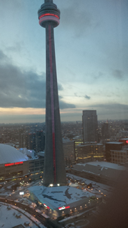 CN tower view from Ice condos