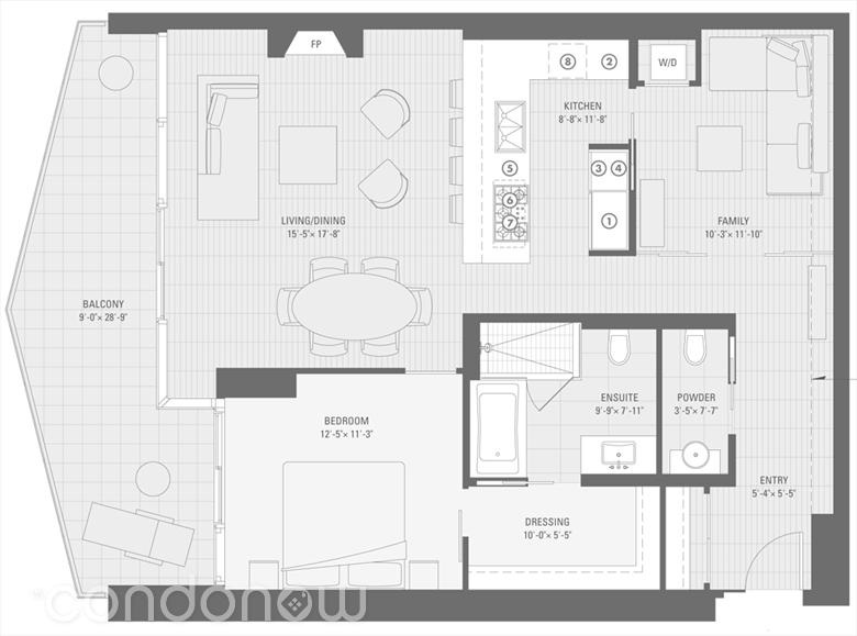 180 University Ave   Suite 03 : 1+1 Bed Room 11100 Sq.ft, West View