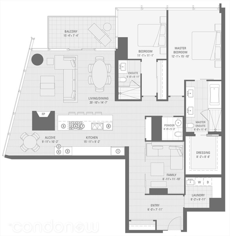 Shangri La 180 University Avenue Condo Floor Plans